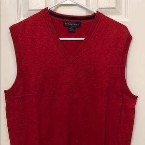Brooks Brothers Medium Red Cotton Sweater Vest
